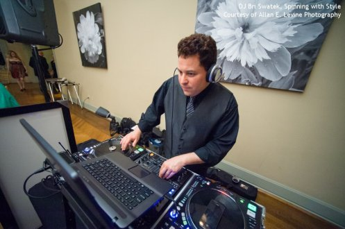 DJ Bri Swatek Spinning with Style at a Hudson Valley Wedding Courtesy of Allan E. Levine Photography