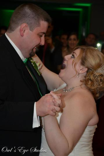 Hudson Valley Wedding First Dance at Rolling Greens Music and Uplighting by DJ Bri Swatek Courtesy of Owl's Eye Studios