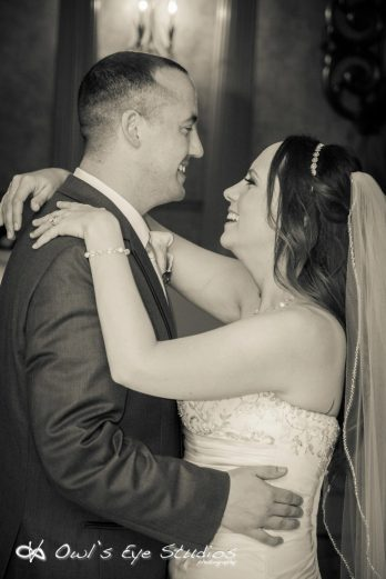 Hudson Valley Wedding First Dance at the Villa Borghese Set to Music by DJ Bri Swatek Courtesy of Owl's Eye Studios
