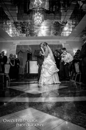 Hudson Valley Wedding DJ Bri Swatek Alexis and Shawn's First Dance Cortlandt Colonial Owl's Eye Studios