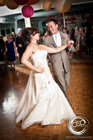 Hudson Valley Wedding First Dance at The Garrison, Set to Music by DJ Bri Swatek Courtesy of Dan Stockfield Photography