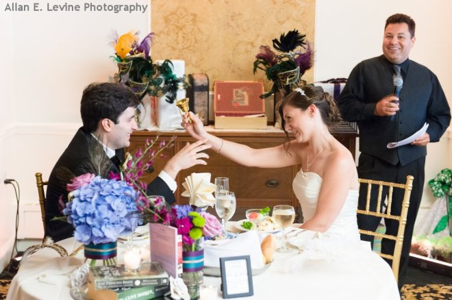 Hudson Valley Wedding DJ Bri Swatek Toast Dutchess Manor Allan E Levine Photography