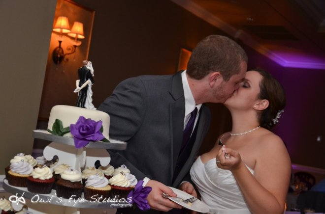 Hudson Valley Wedding DJ Bri Swatek Cake Cutting Links at Union Vale Owls Eye Studios
