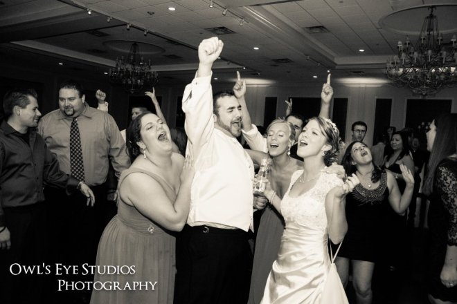 Hudson Valley Wedding Dance Party at the Grandview Set to Music by DJ Bri Swatek Courtesy of Owl's Eye Studios Photography