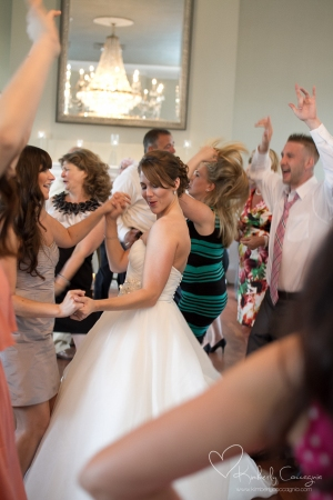 Hudson Valley Wedding Dance Party at Highlands Country Club Set to Music by DJ Bri Swatek Courtesy of Kimberly Coccagnia