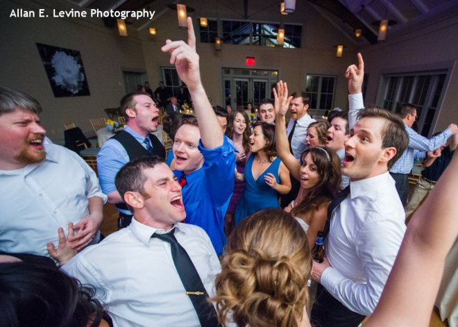 Hudson Valley Wedding Dance Party at Locust Grove Set to Music by DJ Bri Swatek Courtesy of Allan E Levine Photography
