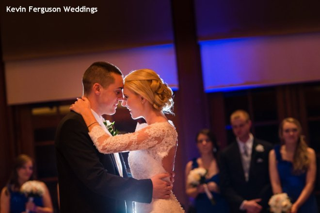 Hudson Valley Wedding First Dance at Bethel Woods Set to Music by DJ Bri Swatek Courtesy of Kevin Ferguson