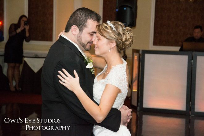 Hudson Valley Wedding First Dance at the Grandview Set to Music by DJ Bri Swatek Courtesy of Owl's Eye Studios Photography
