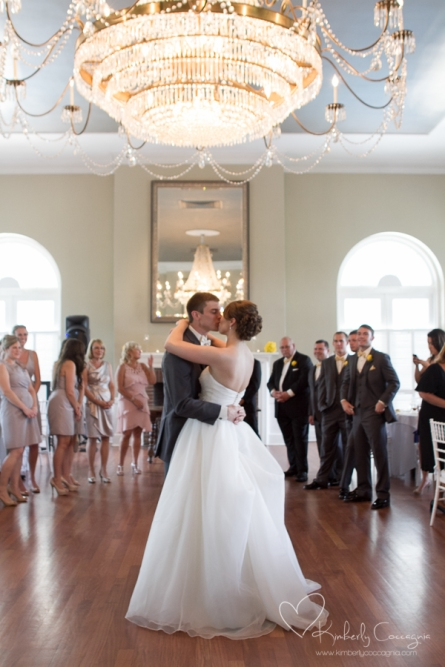 Hudson Valley Wedding First Dance at Highlands Country Club Set to Music by DJ Bri Swatek Courtesy of Kimberly Coccagnia