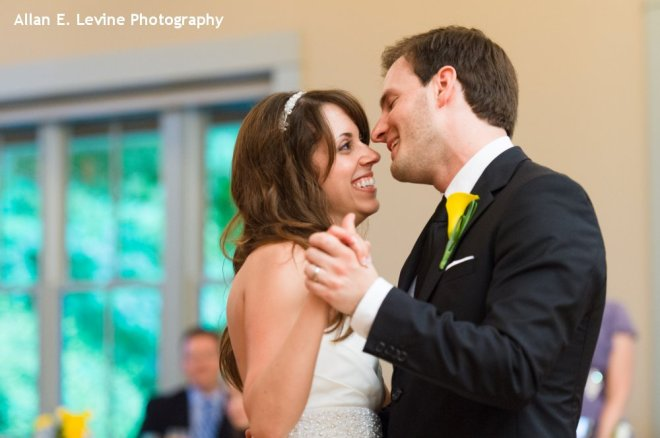 Hudson Valley Wedding First Dance at Locust Grove Set to Music by DJ Bri Swatek Courtesy of Allan E Levine Photography