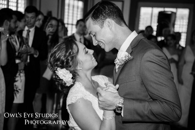 Hudson Valley Wedding First Dance at Round Hill House with DJ Bri Swatek Courtesy of Owl's Eye Studios