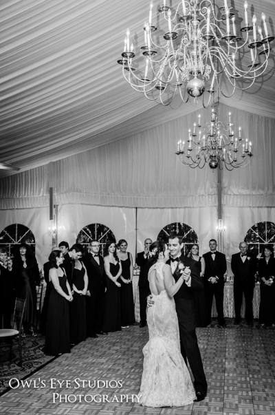 Hudson Valley Wedding First Dance at the Grandview Tent with DJ Bri Swatek Courtesy of Owl's Eye Studios