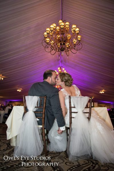 Hudson Valley Wedding Uplighting at West Hills with DJ Bri Swatek Courtesy of Owl's Eye Studios
