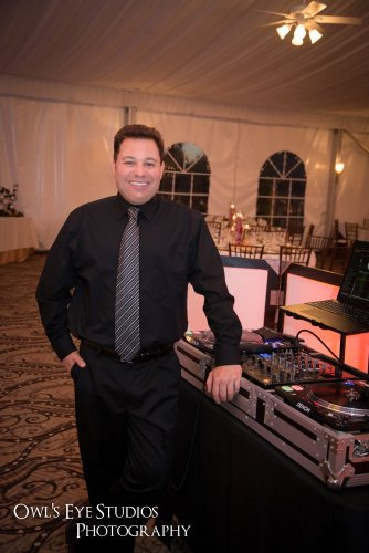 Hudson Valley Wedding DJ Bri Swatek at West Hills Country Club Courtesy of Owl's Eye Studios Photography