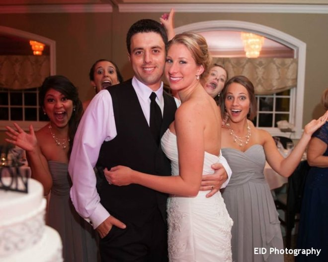 Hudson Valley Wedding Party at the Links at Union Vale with DJ Bri Swatek Courtesy of EID Photography