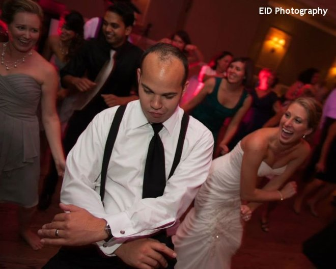 Hudson Valley Wedding Dance Floor at the Links at Union Vale with DJ Bri Swatek Courtesy of EID Photography