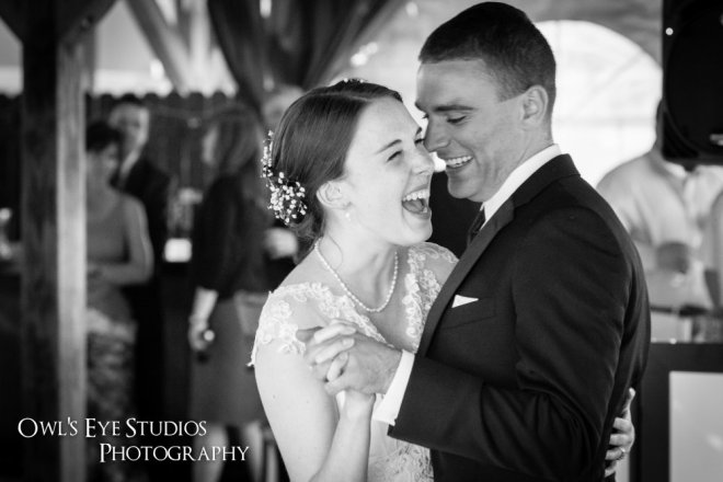 Hudson Valley Wedding First Dance at Twin Lakes Set to Music by DJ Bri Swatek Courtesy of Owl's Eye Studios Photography