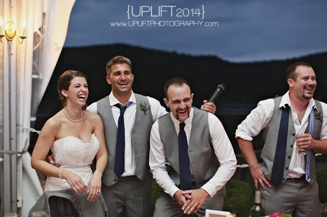 Hudson Valley Wedding Toast with DJ Bri Swatek at the Grandview Tent Courtesy of Uplift Photography