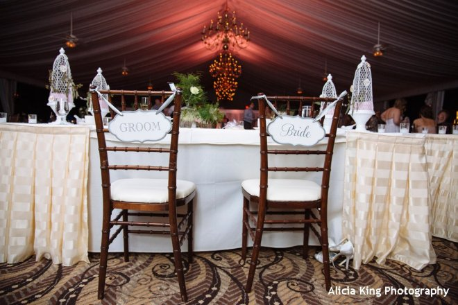 Hudson Valley wedding uplighting at the Grandview's outdoor tent ballroom by DJ Bri Swatek courtesy of Alicia King Photography