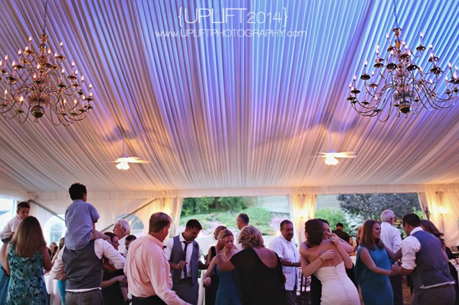 Hudson Valley Wedding Uplighting by DJ Bri Swatek at the Grandview Tent Courtesy of Uplift Photography