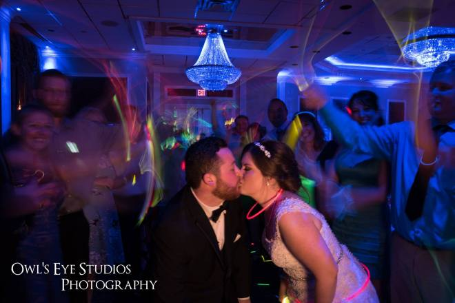 Hudson Valley Wedding DJ Bri Swatek Poughkeepsie Grand Hotel Glowstick Send-Off Owls Eye Studios BRMB