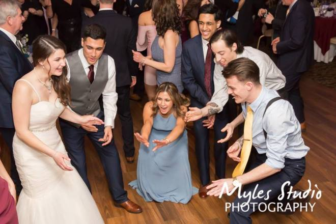 Hudson Valley Wedding DJ Bri Swatek Dance Party 1 Poughkeepsie Grand Hotel Myles Studio Photography