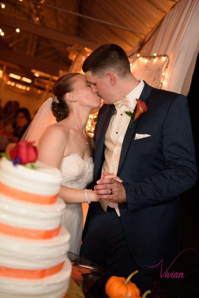 Hudson Valley Wedding DJ Bri Swatek Cake Cutting Lippincott Manor Vivian Photography LRMB