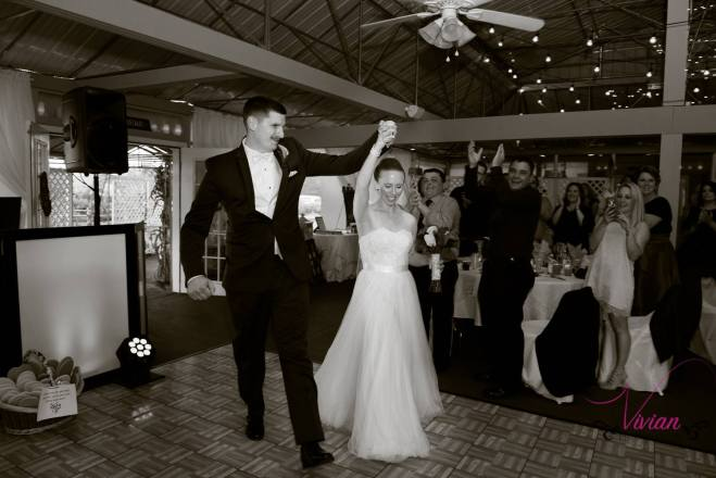 Hudson Valley Wedding DJ Bri Swatek Entrance Lippincott Manor Vivian Photography LRMB
