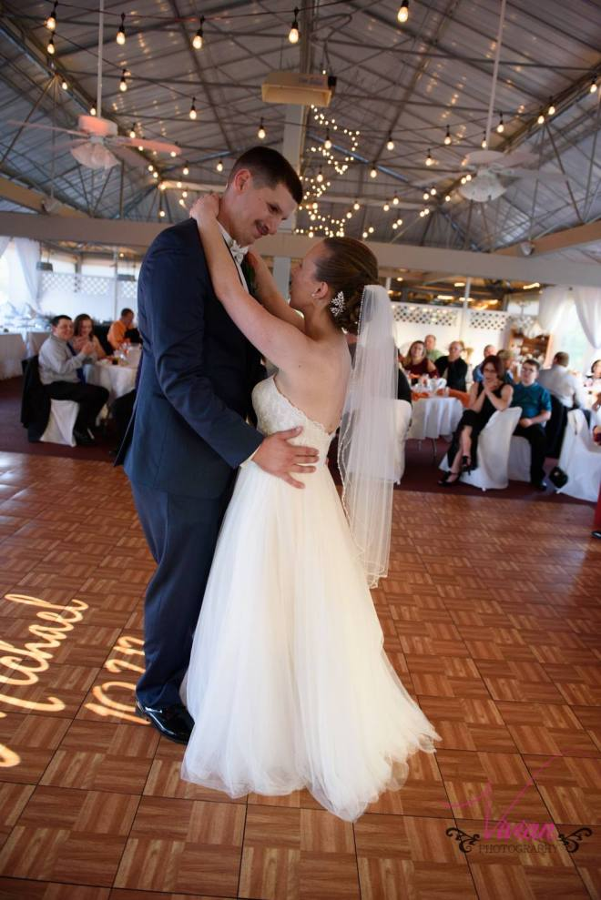 Hudson Valley Wedding DJ Bri Swatek First Dance Lippincott Manor Vivian Photography LRMB