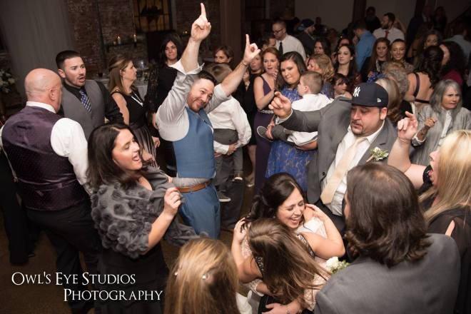 Hudson Valley Wedding DJ Bri Swatek First Dance Owls Eye Studios Senate Garage
