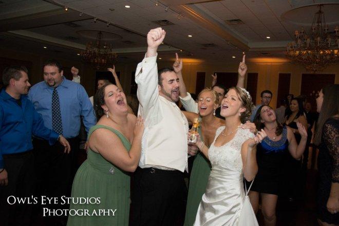 Hudson Valley Wedding DJ Bri Swatek Dance Party Bride and Groom Grandview Owls Eye Studios